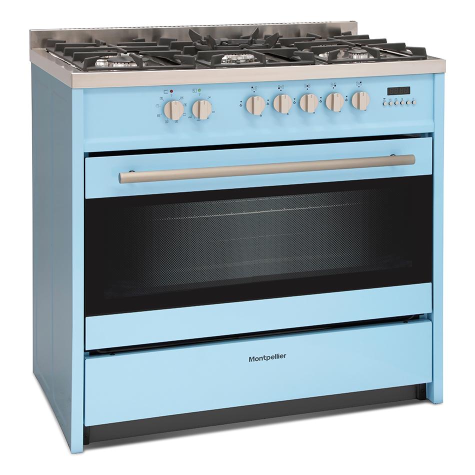 Montpellier MR95DFPB Dual Fuel Range Cooker