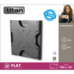 Titan by Vivanco BFI 8020 Flat Wall Mounted Tv Bracket 43""