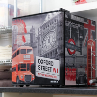 Husky EL195 London Theme Mini Fridge