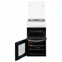 Indesit ID5G00KMWL 50cm Twin Cavity Gas Cooker