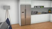 Bosch KAN93VIFPG Serie 4 American Style Fridge Freezer Stainless Steel