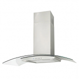 Luxair LA60-VAL-SS Curved Glass Chimney Hood