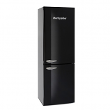 Montpellier MAB385KAA Black Retro Frost Free Fridge Freezer