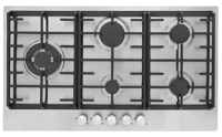 Montpellier MGH90CX Stainless Steel 5 Zone Gas Hob