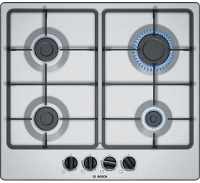 Bosch PGP6B5B60 60cm Stainless Steel Gas Hob Serie 4