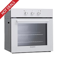 Montpellier SFO65MW White Single Fan Oven