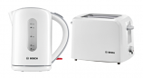 BOSCH White Kettle and Toaster Set