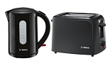 BOSCH Black Kettle and Toaster Set