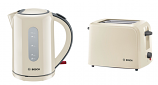 BOSCH Cream Kettle and Toaster Set