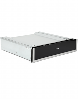 Montpellier WD140ST Warming Drawer Black With Stainless Steel Trim